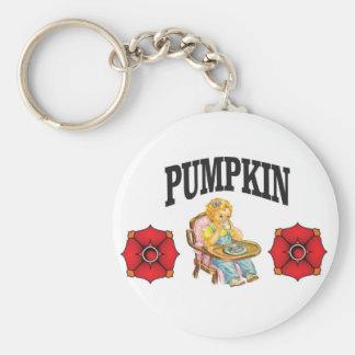 pumpkin little girl keychain