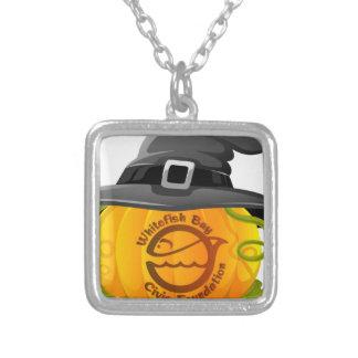 Pumpkin Logo 2016 Silver Plated Necklace