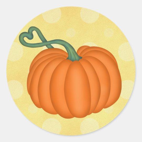 Pumpkin Love Classic Round Sticker