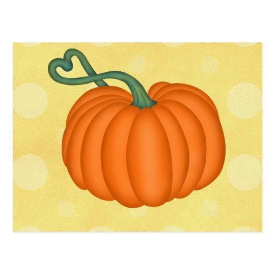 Pumpkin Love Postcard