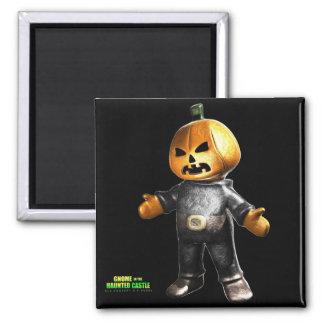 Pumpkin Man 2 Inch Square Magnet