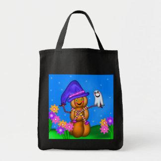 Pumpkin Man and Tiny Ghost Friend Bag