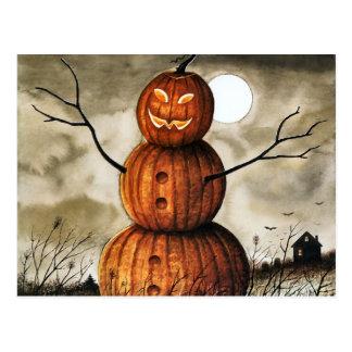 Pumpkin Man Postcard