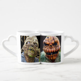 Pumpkin Man, Run Away Couples' Coffee Mug Set