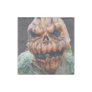 Pumpkin Man, Run Away - Photograph Stone Magnet