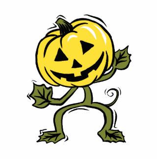 pumpkin man standing vine photo cutout