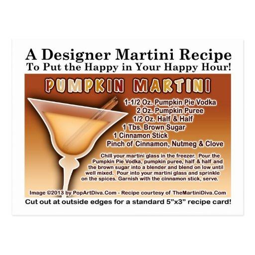 Pumpkin Martini Recipe Postcard