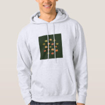 Pumpkin Men's Basic Hooded Sweatshirt
