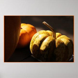 Pumpkin Mini Orange Poster