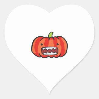 PUMPKIN MONSTER HEART STICKER