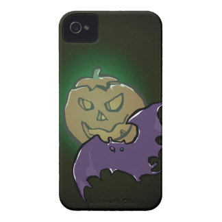 pumpkin moon and bat iPhone 4 case