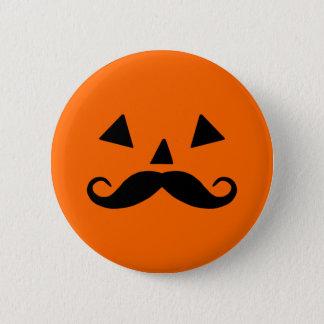 Pumpkin Moustache Button
