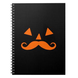 Pumpkin Moustache Notebook