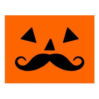 Pumpkin Moustache Postcard