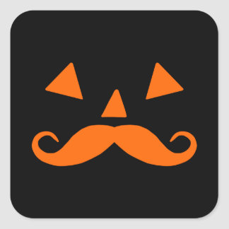 Pumpkin Moustache Stickers