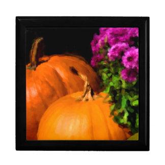 Pumpkin Mums Jewelry Box