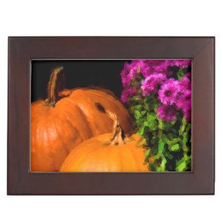 Pumpkin Mums Keepsake Box