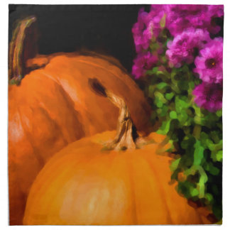 Pumpkin Mums Printed Napkin