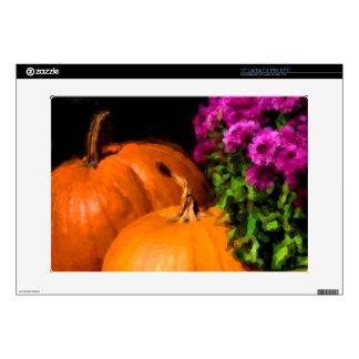 "Pumpkin Mums 15"" Laptop Decal"