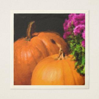 Pumpkin Mums Standard Luncheon Napkin
