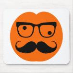 Pumpkin mustache mouse pads