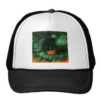 """(""""Pumpkin On A Wall""""* Mesh Hats"""