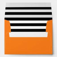 Pumpkin Orange | Black & White Striped Liner Envelope