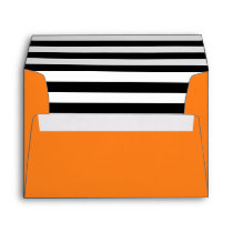 Pumpkin Orange | Black & White Striped Liner Envelope