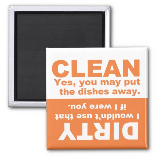 Pumpkin Orange Clean Dirty Dishwasher magnet