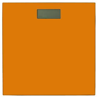 Pumpkin Orange Creepy Hollow Halloween Bathroom Scale