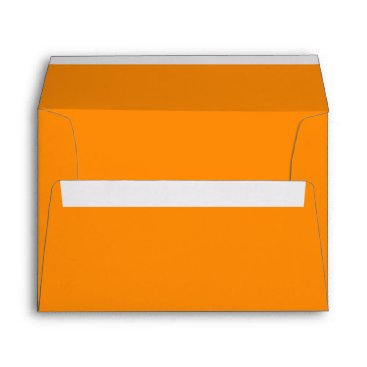 Beach Themed Pumpkin Orange Creepy Hollow Halloween Envelope
