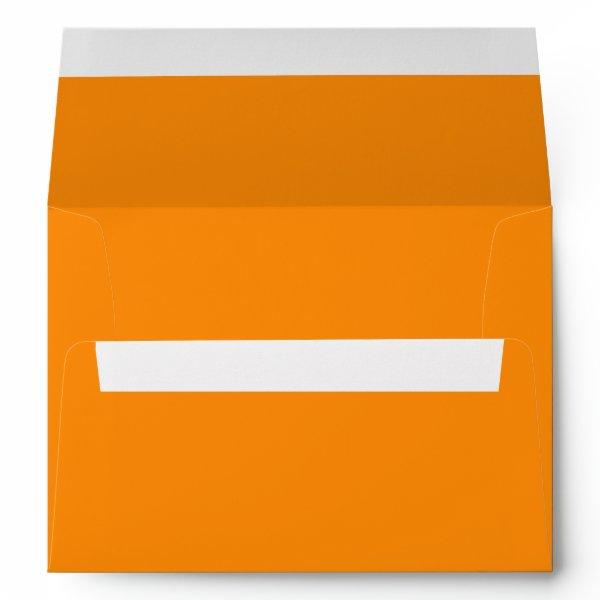 Pumpkin Orange Creepy Hollow Halloween Envelope