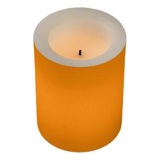 Pumpkin Orange Creepy Hollow Halloween Flameless Candle