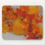 Pumpkin&Orange deja el arreglo Alfombrilla De Ratón