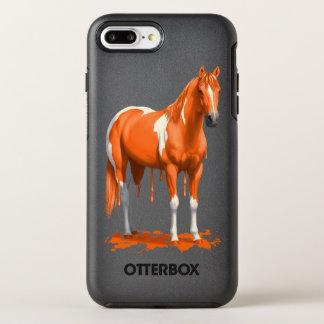 Pumpkin Orange Dripping Wet Paint Horse OtterBox Symmetry iPhone 8 Plus/7 Plus Case