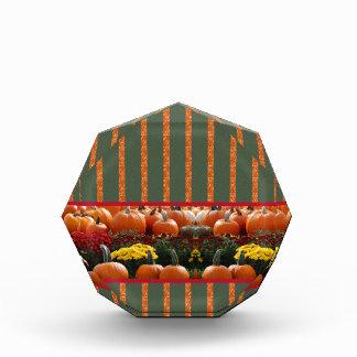 Pumpkin orange green Thanksgiving Autumn Harvest Award