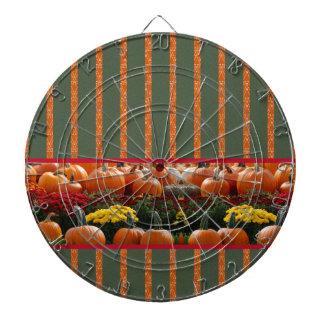 Pumpkin orange green Thanksgiving Autumn Harvest Dartboards