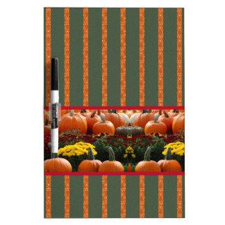 Pumpkin orange green Thanksgiving Autumn Harvest Dry Erase Board