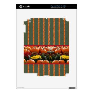 Pumpkin orange green Thanksgiving Autumn Harvest iPad 2 Decals