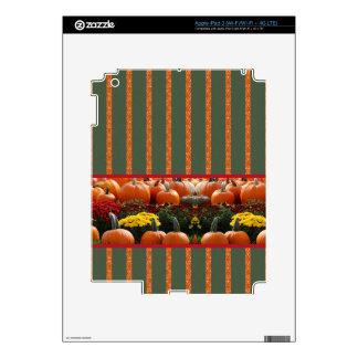 Pumpkin orange green Thanksgiving Autumn Harvest iPad 3 Decal