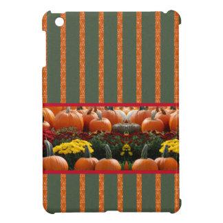 Pumpkin orange green Thanksgiving Autumn Harvest iPad Mini Cover