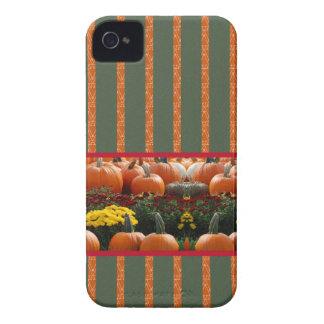 Pumpkin orange green Thanksgiving Autumn Harvest iPhone 4 Cover