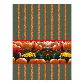 Pumpkin orange green Thanksgiving Autumn Harvest Letterhead