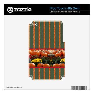 Pumpkin orange green Thanksgiving Autumn Harvest Skin For iPod Touch 4G