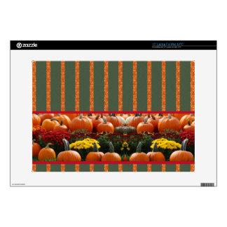 Pumpkin orange green Thanksgiving Autumn Harvest Skins For Laptops
