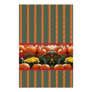 Pumpkin orange green Thanksgiving Autumn Harvest Stationery