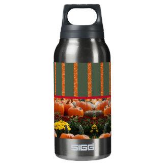 Pumpkin orange green Thanksgiving Autumn Harvest Thermos Water Bottle