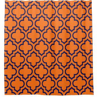 Orange And Navy Shower Curtains Zazzle