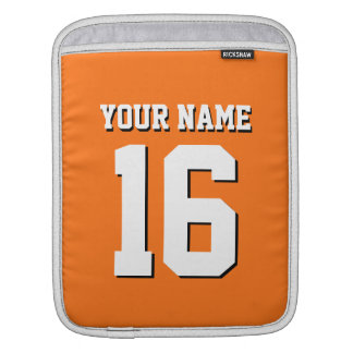 Pumpkin Orange Sporty Team Jersey Sleeve For iPads