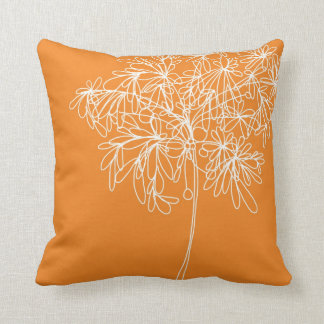 Pumpkin orange throw pillow